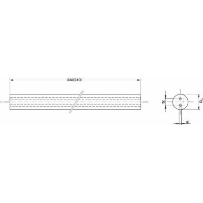30 x 330 (310) mm keményfém kör hasáb h5 köszörüléssel, 2db 3mm hűtőfurattal, 14mm osztókörön