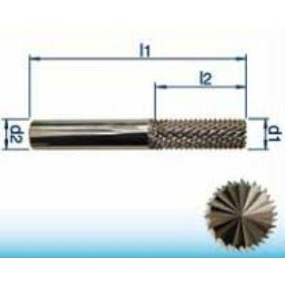 8 x 25 mm keményfém maró üvegszálas műanyag és hab (GFK, CFK) anyagokhoz, 63mm teljes hossz, 8mm szár átmérő