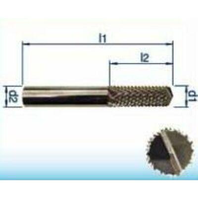 6 x 18 mm keményfém maró üvegszálas műanyag és hab (GFK, CFK) anyagokhoz, 50mm teljes hossz, 6mm szár átmérő