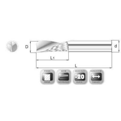 4 x 14 mm, VHM Maró, MVN, 40 mm teljes hossz, 4 mm szár átmérő